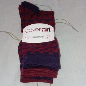 CoverGirl crew socks pack
